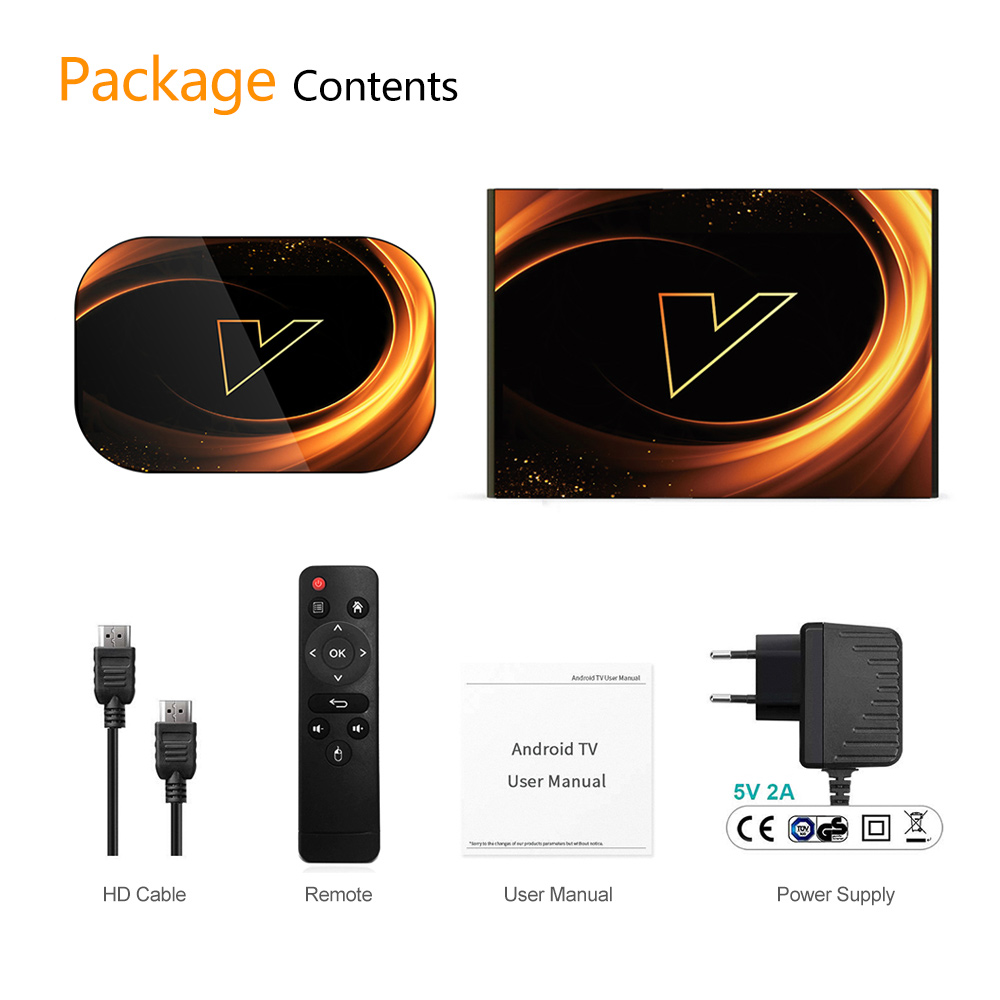 VONTAR X3 4GB 128GB 8K TV BOX Android 9 Android TVBOX pintar 9.0 - Audio dan video rumah - Foto 6