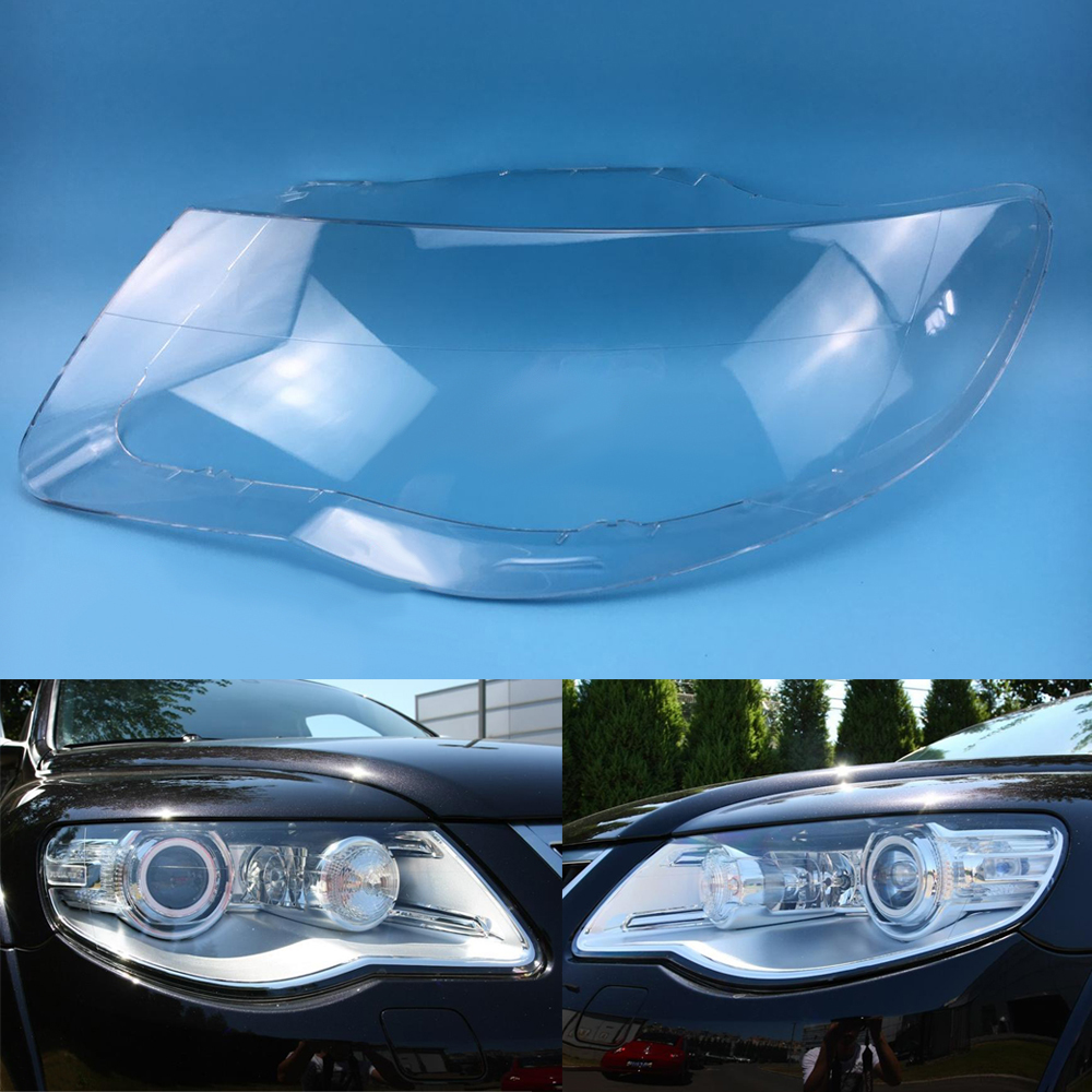 For Volkswagen VW Touareg 2007 2008 2009 2010 Car Headlight Headlamp Clear Lens Auto Shell Cover