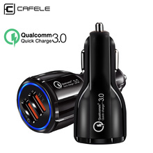 CAFELE USB Car Charger QC3.0 Quick Charging Universal for iPhone X XS Max XR Huawei Samsung Xiaomi