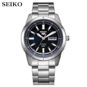 Image 1 - Seiko שעון גברים 5 אוטומטי שעון למעלה יוקרה מותג ספורט גברים שעון סט גברים שעון עמיד למים שעון relogio masculino SNZG15J1
