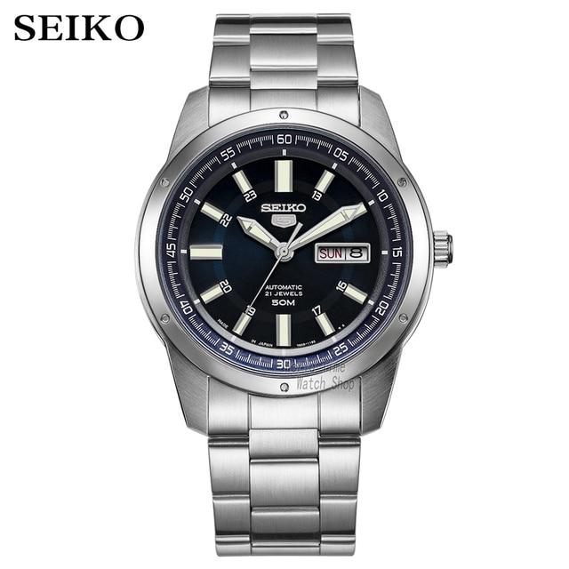 Seiko שעון גברים 5 אוטומטי שעון למעלה יוקרה מותג ספורט גברים שעון סט גברים שעון עמיד למים שעון relogio masculino SNZG15J1