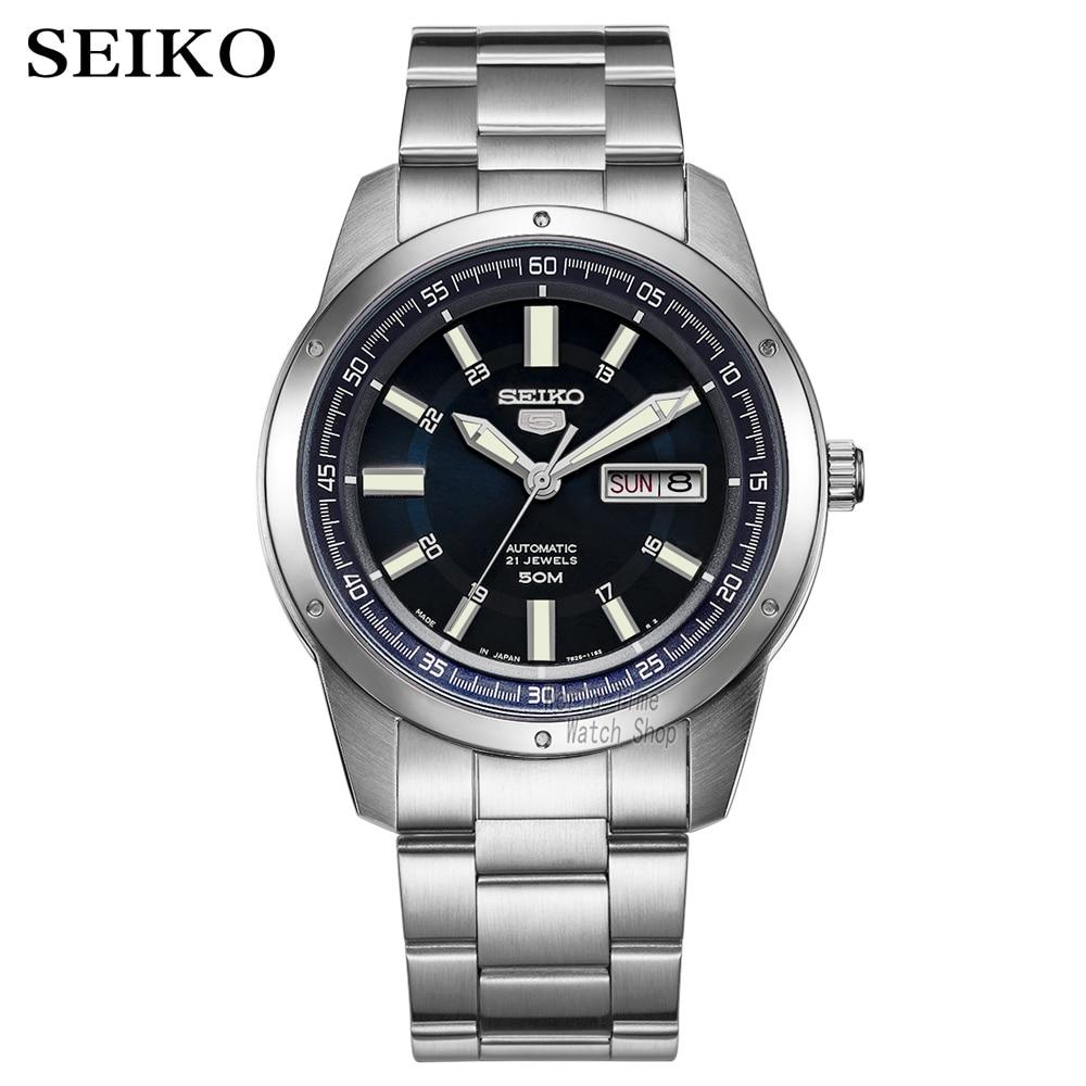 Seiko Watch Men 5 Automatic Watch Top Luxury Brand Sport Men Watch Set Men Watch Waterproof Watch Relogio Masculino SNZG15J1