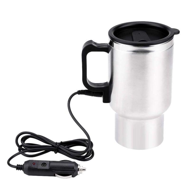 12V 450ML Portable en acier inoxydable tasse bouilloire voyage tasse à café voiture électrique eau garder plus chaude bouilloire