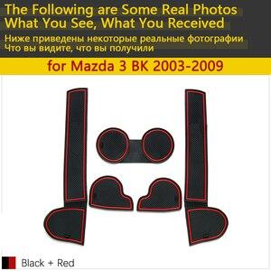 Image 3 - Anti Slip Coppa di Gomma Porta Cuscino Groove Zerbino per Mazda 3 BK MPS 2003 ~ 2009 2004 2006 2008 accessori Adesivi Per Auto Zerbino per il telefono