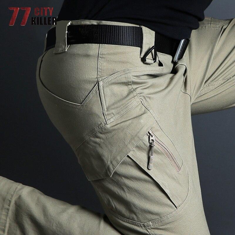 77City Killer Tactical Pants Men Military Army Pants Male IX9 Cargo Anti-Pilling Combat Work Trousers SWAT Multi-pocket Pants