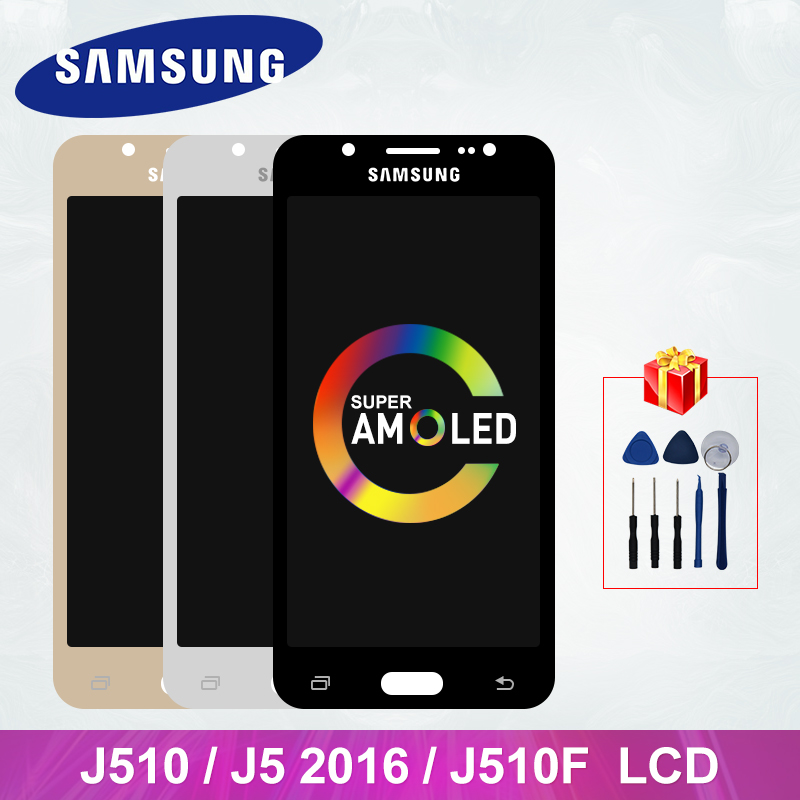 J510 Super AMOLED For Samsung Galaxy J5 2016 <font><b>Display</b></font> J510 <font><b>J510FN</b></font> J510M J510G LCD Touch Screen Digitizer <font><b>Display</b></font> Replacement Part image