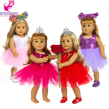 Doll Ballet Party Lace Dress Fit for 43cm New Born Baby Clothes 18 Inch