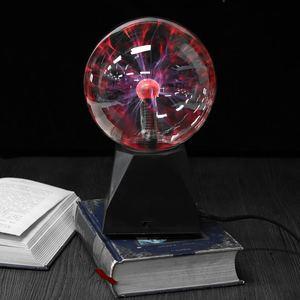 8 Inch Plasma Lamp Plasma Ball Touch Magic Lighting Sphere Lamp Crystal Table Lamp Novelty Night Color part Lighting