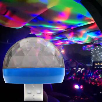 USB Light LED Modeling Car Ambient Light Neon Interior Light Car Jewelry 5V DJ RGB Light Color Changing OTG Music Sound Lam image