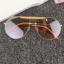 Nuevo estilo 2019 gafas de sol de diseñador de marca de lujo para hombre y mujer gafas de sol Vintage de gran tamaño con gradiente ovalado para hombre con caja FML