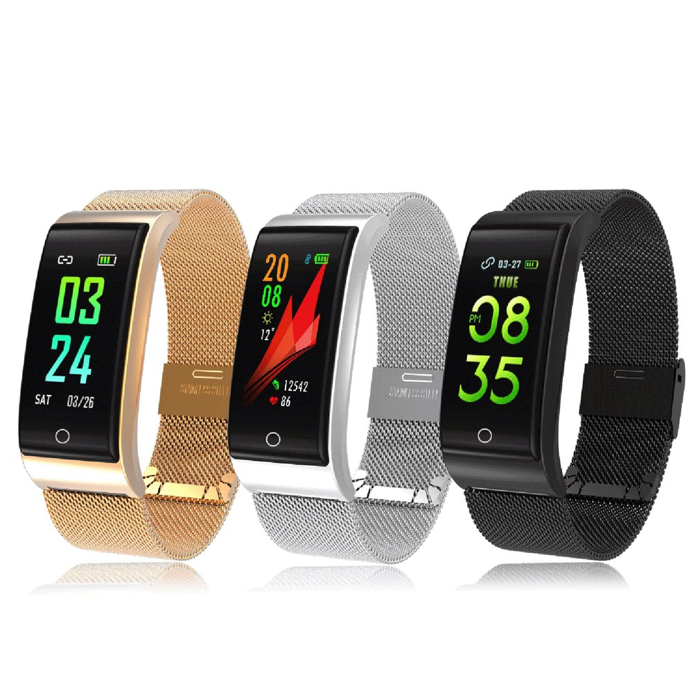Digital Watch - F4 Metal Smart Band Wristband Blood Pressure/Fitness/ Heart Rate Monitor