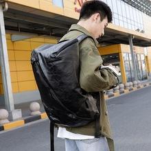 Xiao p moda PU skórzane plecaki plecaki na aparat nowe plecaki męskie plecaki podróżne o dużej pojemności tanie tanio xiao p bag Sewing Miękka osłona 20-35 litrów Otwór na wyjście Kieszonka na telefo Wewnętrzna kieszeń na zamek błyskawiczny