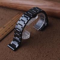 12/14/16/18/20/22mm רצועת השעון עבור Samsung הילוך S2/S3 גבוהה איכות שחור קרמיקה שעון רצועת מתכת צמיד עבור Huawei שעון חדש|רצועות לשעון|שעונים -