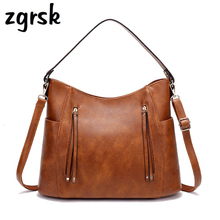 купить Vintage PU Leather Luxury Shoulder Bags Handbag Women Bags Designer Ladies Hand Bags For Women Brand Messenger Bag Tote по цене 1274.62 рублей