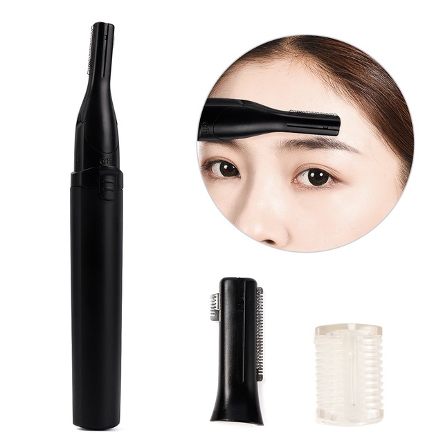 Electric Eyebrow Trimmer Threading Knife Eyebrow Shaver R-Type Blades Cleaning Hand Armpit Bikini Hair Adjustable Cutter Heads