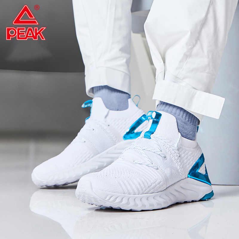 الذروة TAICHI الرجال خفيفة الوزن احذية الجري امتصاص الصدمات تنفس أحذية رياضية موضة أحذية رياضية عادية TAICHI التكنولوجيا