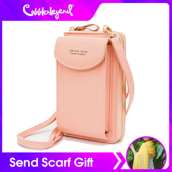 New Women Mini Small Handbag Female Long Purse Coin Cell PU Leather Phone Bags Lady Messenger Bag Clutch Crossbody Shoulder Bag women cell phone bag shoulder transparent bag card holders girl handbag ladies pu leather clutch phone wallets purse 2020