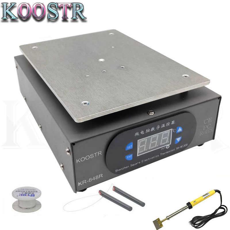 KR-848R Thermostat Penghangat Ruangan Mesin Perbaikan Ponsel Layar LCD Terbuka Pemisah Pematrian Stasiun untuk IPhong Samsung
