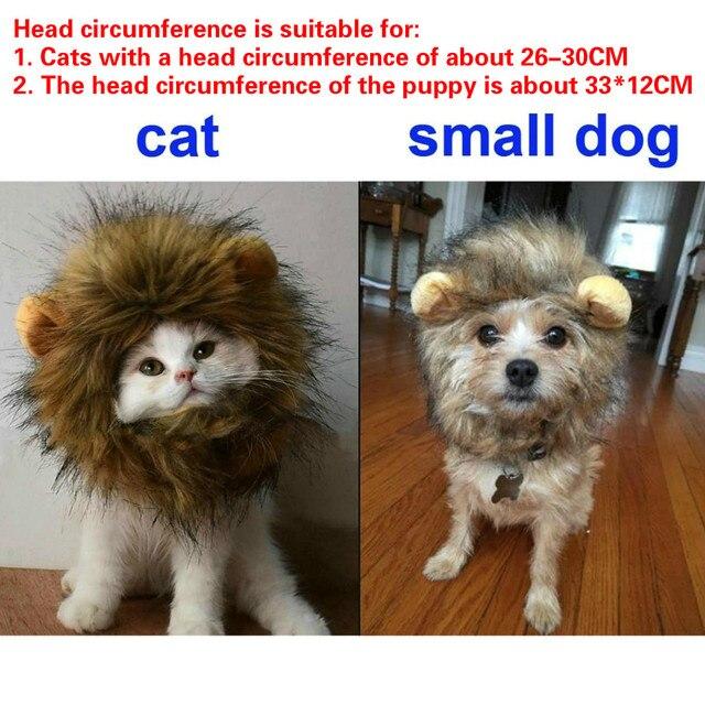 Kitten/Puppy Costume Lion Mane Wig  3