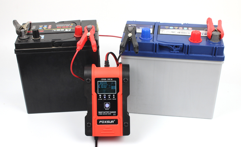lowest price FOXSUR 6A Fully-Automatic Smart Charger 12V 24V Battery Charger Battery Maintainer Battery Desulfator AGM GEL WET Lithium
