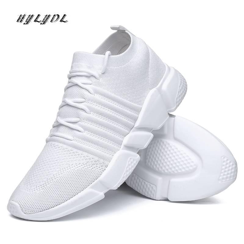 Hommes chaussures décontracté Super respirant Air maille baskets hommes chaussures de course en plein Air formation sport Tenis chaussures Zapatos Hombre taille 48