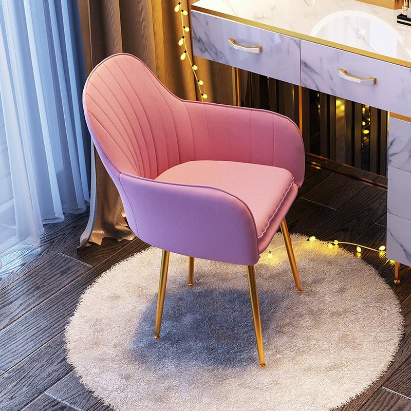 Children Furniture Light Home Luxury Nordic Stools Modern Minimalist Web Celebrity Armchair Sofa Chair Bedroom Make-up Stool