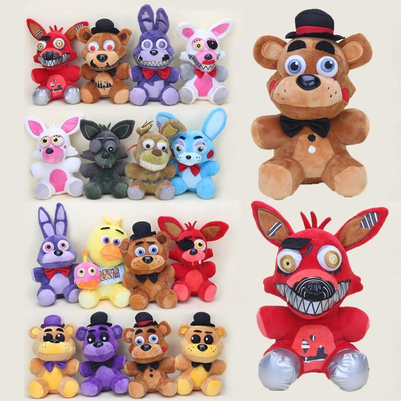 25CM Freddy Plush Foxy Chica Bonnie Springtrap Golden Freddy Fazbear plush soft Stuffed  Dolls kids toy