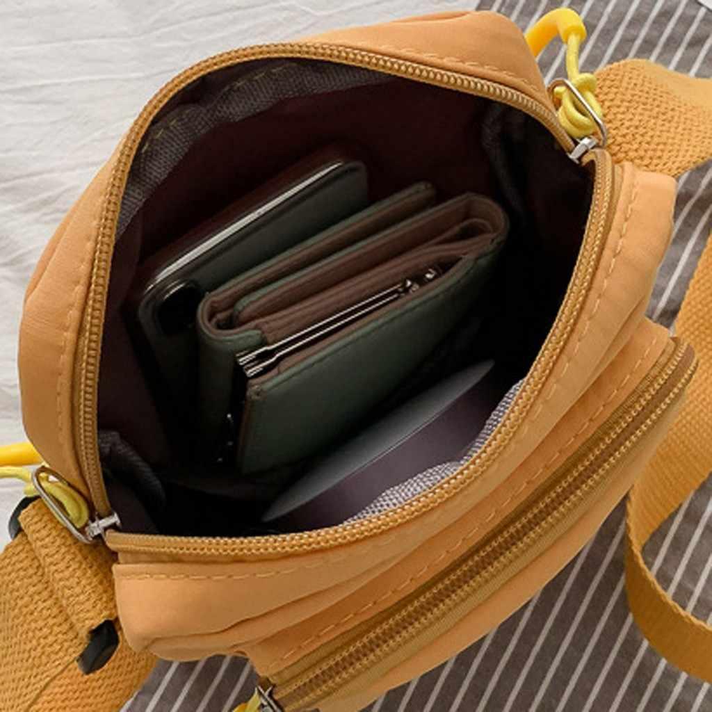 25 # mode femmes Style Simple couleur unie en Nylon sac à bandoulière sac de messager sacs à bandoulière pour les femmes