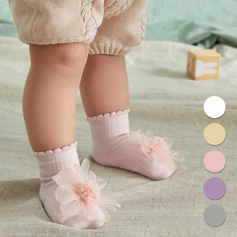 Newborn Toddlers Girls Big Bow Knee High Soft Cotton Lace Baby Socks Kids Baby Socks