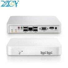 Xcy mini pc intel celeron 1007u computador escritório computação linux win 10 7 hdmi wifi usb minipc linux fino cliente micro pentium 2117