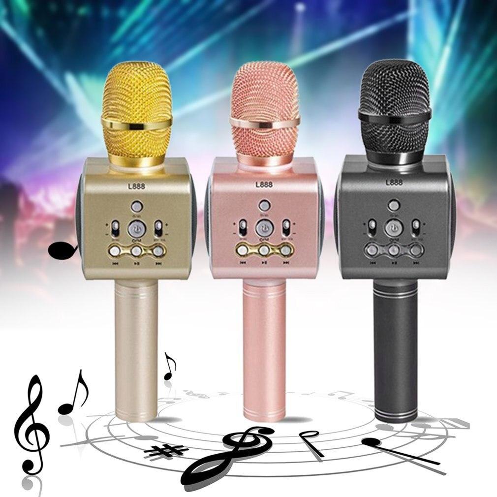 L888 Portable National Karaoke Microphone Mobile Phone Karaoke Wireless Condenser Microphone Audio Machine