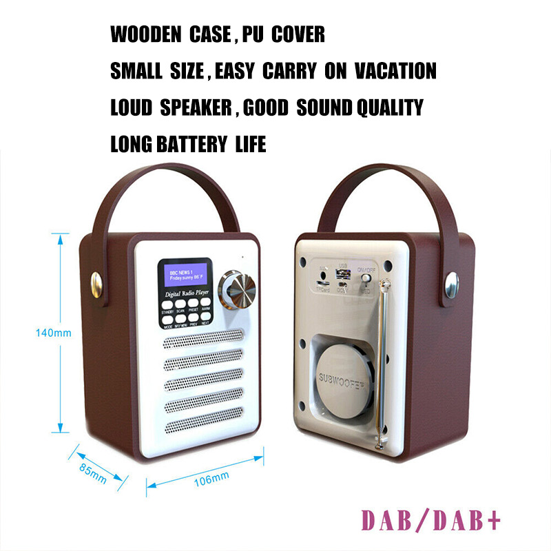 Новый горячий Деревянный цифровой Bluetooth DAB/DAB + FM радио MP3 плеер беспроводной динамик стерео радио - 6