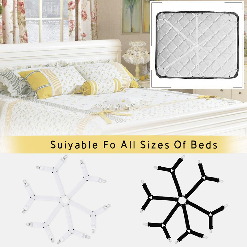 Adjustable Elastic Linen Fasteners Way Sides Suspenders Sheet Holders Bed Clips Grippers Mattress Strapsit Bedding Bedding Sets