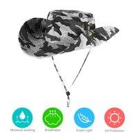 Homens do exército caça pesca chapéus ao ar livre boonie chapéu de aba larga respirável caça pesca safari sun hat|Bonés de pesca| |  -
