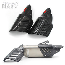 Replace Exclusive Escape Moto Modified Motorcycle Exhaust Pipe Cover Carbon fiber lid For Akrapoviccc R6 AK X ADV 750 MT09 Bike