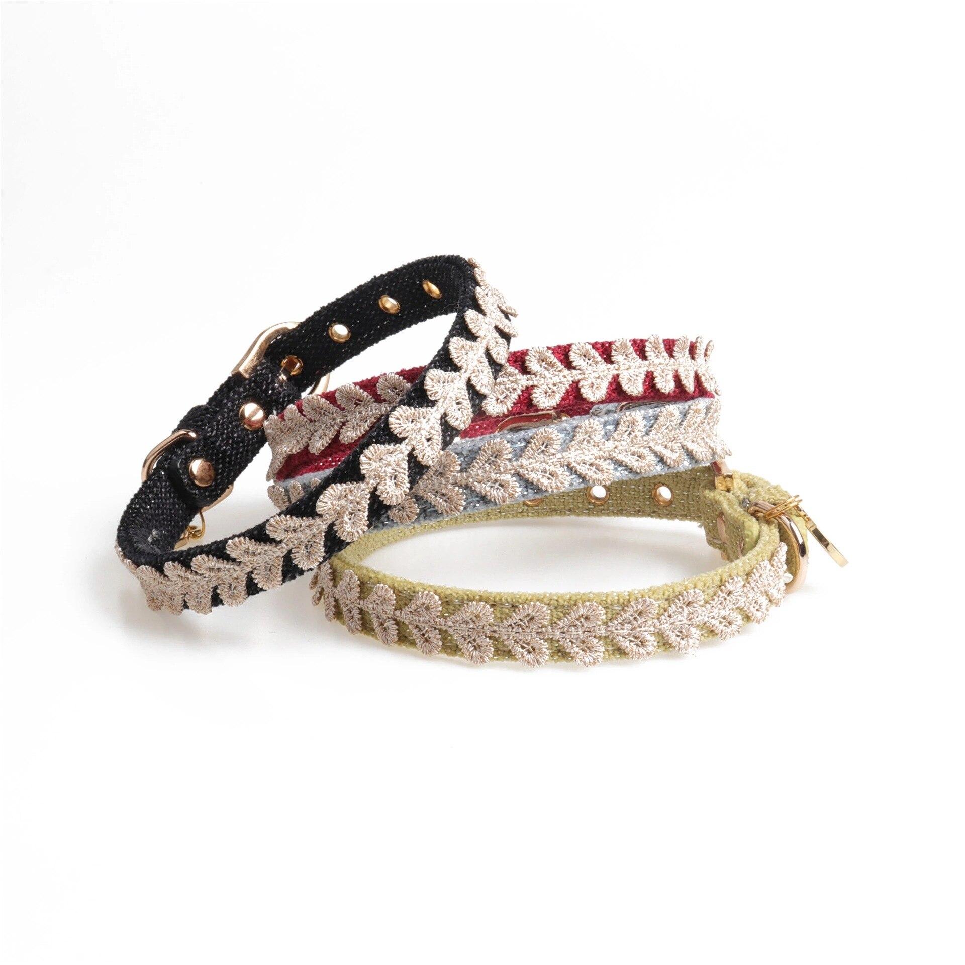 Amin Lattice New Style Heart Shape Decorative Band Pet Collar Customizable Dog Hand Holding Rope