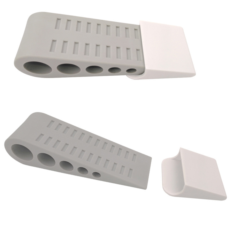 Door Wedge Shaped Plastic Door Stops Non-Slip Grey Door Buffers For Office Home Baby Safe Floor Door Stopper