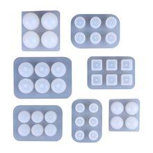 1 Set UV Resin Silicone Mould DIY Handmade Beads Epoxy Mold Pendant Jewelry Crafts Making Molds цена и фото