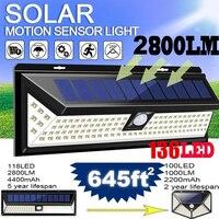 308/128/268 LED luci solari sensore di movimento illuminazione esterna lampada ad energia solare impermeabile per la decorazione del giardino lampada da parete stradale