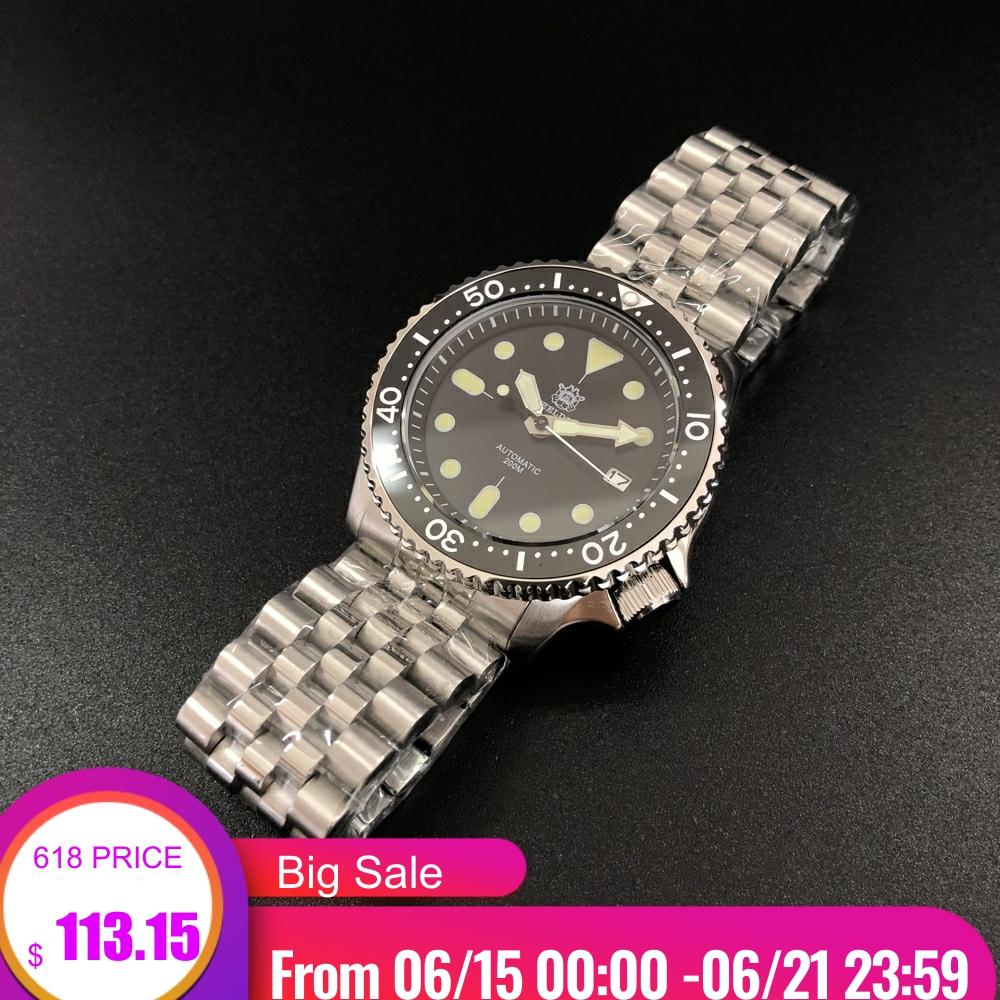 Luminous Automatic Watch Man Mechanical Watch NH35 Sapphire Crystal 316L Mechanical Ceramic Bezel  Stainless Steel Dive WatchSports Watches   -