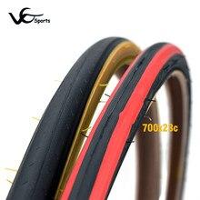 Ultralekka opona rowerowa 700 ostre koło opony 700 * 23C bicicleta pneu 700C retro rower szosowy wyścigowy opony czerwony żółty bok 430g