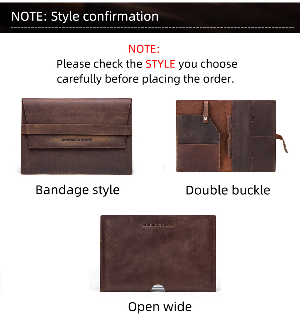Strnry For Ipad Mini 1//2//3//4//5 7.9 Case 7.9 Inch Brown Crazy Horse Cowhide Leather Padfolio Portfolio Case Document Pocket Multifunctional Leather Case