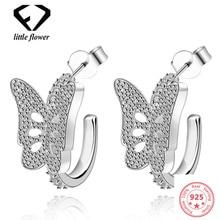 925 Sterling Silver Beautiful Butterfly Earrings Women Jewelry Gemstone Orecchini Bizuteria Brincos Earring Diamond