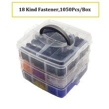 1050Pcs Universal Boxed Hybrid Auto Fastener Clip Tür Trim Auto Stoßstange Niet Fixer Hood Fender Befestigungs Clip