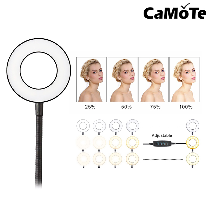 Tripod for Smartphone Makeup phone holder stand beauty 10 inch 26cm Ring flash Video Live Led ring light lamp Photography Photo