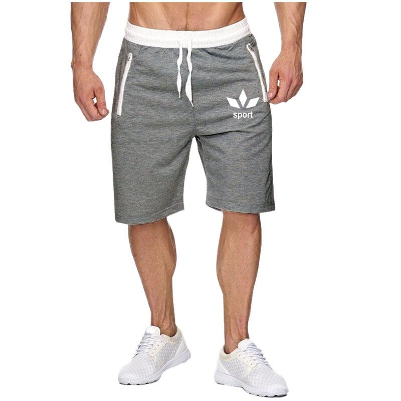 2020 Summer New Fashion  Elastic Breathable Brand Men Gyms Shorts Mens Fashion Printing Fitness Bodybuilding Short Pants