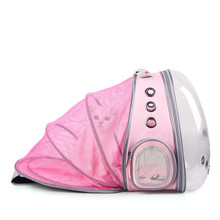 Breathable Pet Cat Backpack Transparent Space Capsule Small Pet Carrying Cage Outdoor Traveler Puppy Kitten Expand Space Carrier