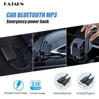 רכב נייד רדיו KAJARN FM Transmitte רכב אודיו נגן רדיו לרכב Bluetooth דיבורית לרכב מטען נייד כוח FM אפנן Aux Cable (1)