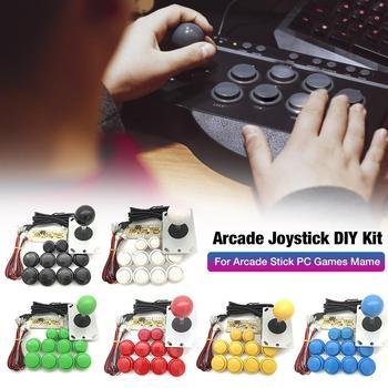 цена на Arcade Joystick DIY Kit Zero Delay Arcade DIY Kit USB Encoder To PC PS3 Arcade Sanwa Joystick And Push Buttons For Arcade Mame