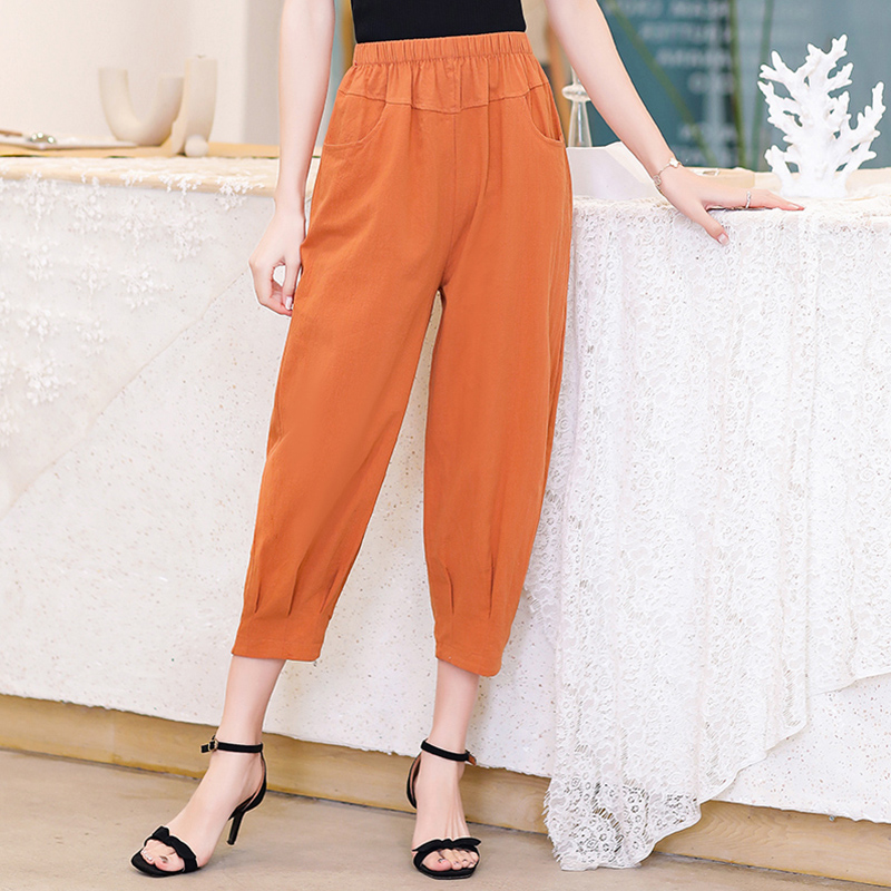 Thin Women Harem Pants 2020 Summer Plus Size OL Style Female Work Suit Pant Loose Female Trousers Capris